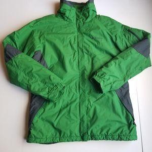 Columbia Women's Sportswear Green Winter Jacket  L